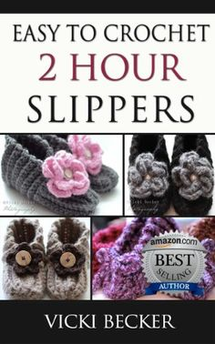 Easy To Crochet 2 Hour Slippers ༺✿Teresa Restegui http://www.pinterest.com/teretegui/✿༻