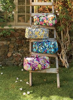 Vera Bradley 2013 Spring Collection - Bring on Spring! A fresh new season is on it's way. We just love the sight of fresh-cut flowers, don't you?  Allow us to  introduce Go Wild, Jazzy Blooms,  Midnight Blues and Plum Crazy,  in store now!