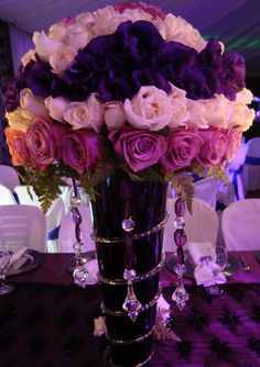 Brianna 39 s sweet 16 on pinterest masquerade party for Flower arrangements for sweet 16