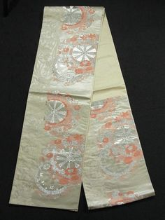 This is a contemporary Fukuro obi with beautiful woven pattern