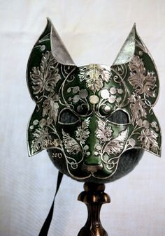 Reynard the Fox  Handmade Leather mask by MaskEra on Etsy, $275.00