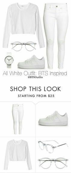 Woman All White Outfits Fall Fashion Outfits, Kpop Outfits, Outfits For Teens, Teen Fashion, Summer Outfits, Girl Outfits, Womens Fashion, Fashion Trends, White Fashion