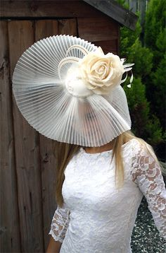Wedding hat - MISTRESS - Vintage inspired bridal hat headdress WEDDING fascinator. $205.00, via Etsy.