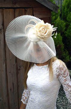 Wedding hat - MISTRESS - Vintage inspired bridal hat headdress WEDDING fascinator. $205.00, via Etsy.