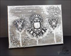 Retro Inspiracje: Srebrno-szara płaskorzeźba / Retro Inspirations: Silver-grey relief sculpture