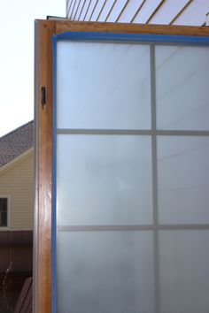 Frosted window DIY.  How I frosted my powder room window.