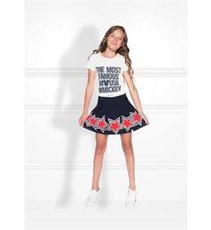 Nik and Nik T-shirts G8-495 mickey f Off white  uit de limited Disney collection!!  - Shop Nik & Nik meisjeskleding en jongenskleding online @ https://www.nummerzestien.eu/nik-and-nik/