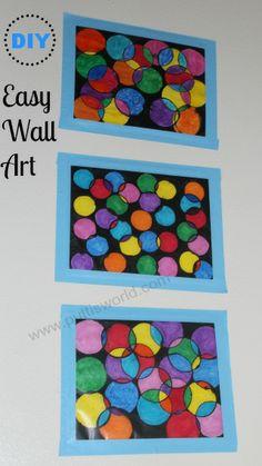 Circle stamping + Painting = DIY Easy Wall Art