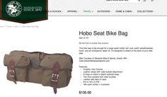 Hobo seat bag