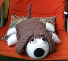 Ravelry: Crochet Hound Pillow Toy pattern by Coats & Clark