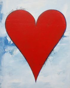 heart paintings on canvas   strength of heart unique acrylic painting on canvas 14 x 11 $ 350
