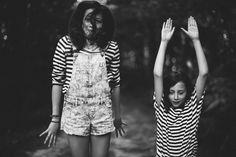 Sisters. Junior portrait story nature shooting.