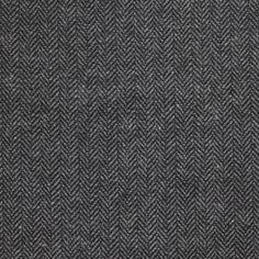 Tissu lainage chevron fourré noir et gris