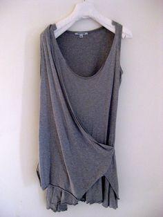 layered jersey dress, helmut lang