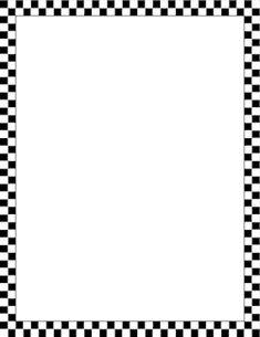 Black and White Checkered Border