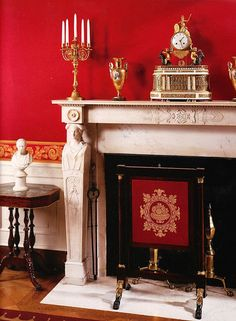 Ruth Burts Interiors:  THE     WHITE     HOUSE, Red    Room,           1792 - 1800    Neoclassical  style - James   Hoban,     Washington,   DC