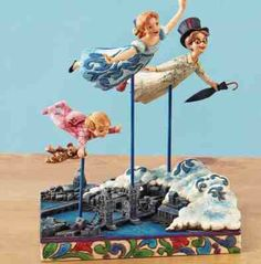 Straight On Till Morning (Shore) from our Jim Shore Disney Traditions collection Disney Statues, Disney Figurines, Christmas Story Books, Peter Pan Art, Images Disney, Disney Ornaments, Disney Traditions, Peter Pan Disney, Disney Home