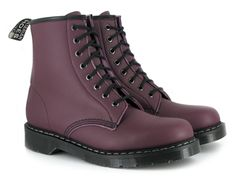 Vegan Lace-up Boot Vegetarian Shoes, Vegan Shoes, Chicago Bears Shoes, Doc Martens Stil, Ethical Shoes, Martens Style, Burgundy Boots, Bucky, Slippers