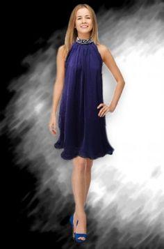 שמלת ערב קצרה משי M1415