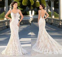 2015 Elegant Bridal Gown Wedding Dress White Ivory Custom Made Size 2 4 6 8 10 | eBay