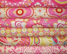 Dena Designs Fabric | Dena Designs Fabric / KUMARI GARDEN / 6 Half Yard Bundle - PINKS ...