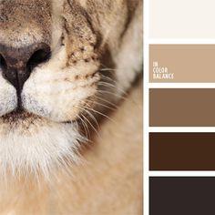 2016, beige, color pardo león, color piel de león, color piel de leona, combinaciones de colores, elección del color, matices cálidos del marrón, matices de color beige pardusco, paleta del color marrón monocromática, selección de colores para el diseño, tonos marrones.