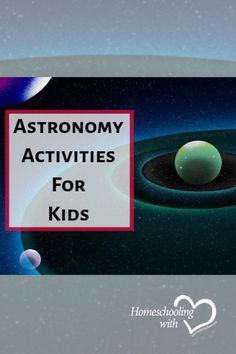 Its time to get your kids excited about astronomy! When your kids are having fun at the same time as they are learning it can make it easier! Check out these amazing astronomy activities! Science Lesson Plans, Science Curriculum, Homeschool Curriculum, Homeschooling, Science Crafts, Science Activities, Activities For Kids, Space And Astronomy, Astronomy Science