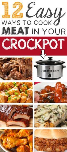 12 Mind-Blowing ways to cook meat in your crockpot! Easy slow cooker recipes.