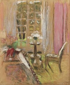 Edouard Vuillard / Le guéridon I love this Pierre Bonnard, Eduardo Vuillard, Art Aquarelle, Inspiration Art, Post Impressionism, Illustrations And Posters, French Artists, Anime Comics, Beautiful Paintings