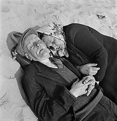 napping together on the beach. Love