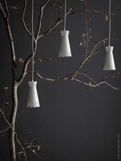 Nyhet! Tillspetsat ljus med MÖLNDAL lampskärmar.