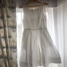 Beautiful white dress with lace back White dress with lace back. Fully lined. Super flattering and sweet! Worn once. Would be great for a summer party Joe Fresh Dresses