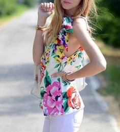 Bright and white #floral #fashion