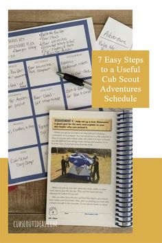 7 Easy Steps to a Useful Cub Scout Adventures Schedule. Plan your next gathering, camping trip, hike, or fun activity with this guide. #CubScout #cubcout #cubscoutideas #Adventure Cub Scout Activities, Activities For Boys, Cubs Schedule, Pack Meeting, Ice Breakers, Cub Scouts, Fun Games, Den, Camping