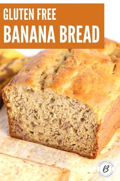 Gluten free banana bread is a super moist quick bread that will become your go-to banana bread! Use a gluten free flour mix to make this banana bread gluten free. No one will know that the gluten is missing! #glutenfree #glutenfreeflour #banana #breadrecipe Banana Bread Gf, Gluten Free Banana Bread, Baked Banana, Gluten Free Flour Mix, Gluten Free Baking, Banana Dessert, Diet Desserts, Banana Bread Recipes, Quick Bread