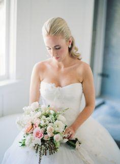 Classic bridal inspiration: http://www.stylemepretty.com/2015/03/26/romantic-fall-durham-ranch-wedding/ | Photography: Sylvie Gil - http://www.sylviegilphotography.com/