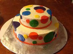 Poka dot cake, all butter cream icing, no fondant