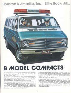 '74 Police Cars Brochure for the Dodge B-Model Vans