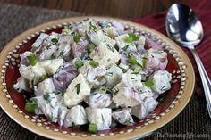 Yogurt Dill Potato Salad. A lighter, healthy take on creamy potato salad. From TheYummyLife.com