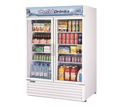 """Turbo Air TGM-50RS White 56"""" Two Glass Door Refrigerator - 50 Cu. Ft."""