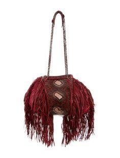 Chanel Paris-Dallas Snakeskin-Trimmed Fringe Bag