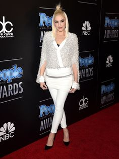 BEVERLY HILLS, CA - DECEMBER 18:  Singer Gwen Stefani attends the PEOPLE Magazine Awards at The Beverly Hilton Hotel on December 18, 2014 in Beverly Hills, California.  (Photo by Jason Merritt/Getty Images) via @AOL_Lifestyle Read more: https://www.aol.com/article/entertainment/2017/04/28/jennifer-lopez-and-mick-jaggers-ex-luciana-gimenez-step-out-i/22060499/_next_slideshow_cta?a_dgi=aolshare_pinterest#fullscreen
