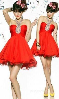 Prom Dress of the Day: Short Red Halter Dress - http://prombelles.com/2013/07/08/prom-dress-of-the-day-short-red-halter-dress/