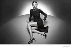 Top model Sasha Pivovarova has been tapped as the face of Italian brand Giada's spring-summer 2015 advertisements. The campaign, photographed entirely in black and white, features the Russian beauty posing on a large circle where she flaunts her lithe legs while wearing slim-fit pants, dresses, jackets and more. The clothing's cuts and silhouettes are reminiscent of 60s couture.