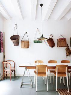 hanging baskets.