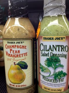 Best salad dressing from Trader Joes Champagne Pear Vinaigrette & Cilantro Salad Dressing