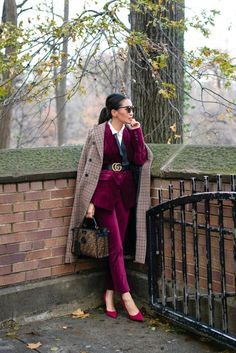 Cold-Weather Styling Guide, Layering with Velvet & Plaid Classy Outfits, Chic Outfits, Fall Outfits, Fashion Outfits, Fashion Trends, Fashion Bloggers, Estilo Dandy, Josie Loves, Suit Fashion