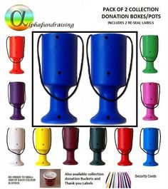 PACK OF 2 CHARITY DONATION COLLECTION MONEY TINS/ BOXES/POTS