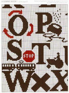 ♥Meus Gráficos De Ponto Cruz♥: Placas de Sinalização de Trânsito e Indústria em Ponto Cruz (1)