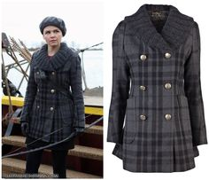 Vivienne Westwood Anglomania Mangano Plaid Peacoat as seen on Mary Margaret Blanchard in various episodes of Season 2. (No longer available)...